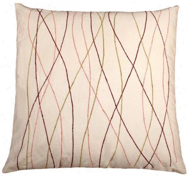 Aneta Pillow - 18x18, Ivory