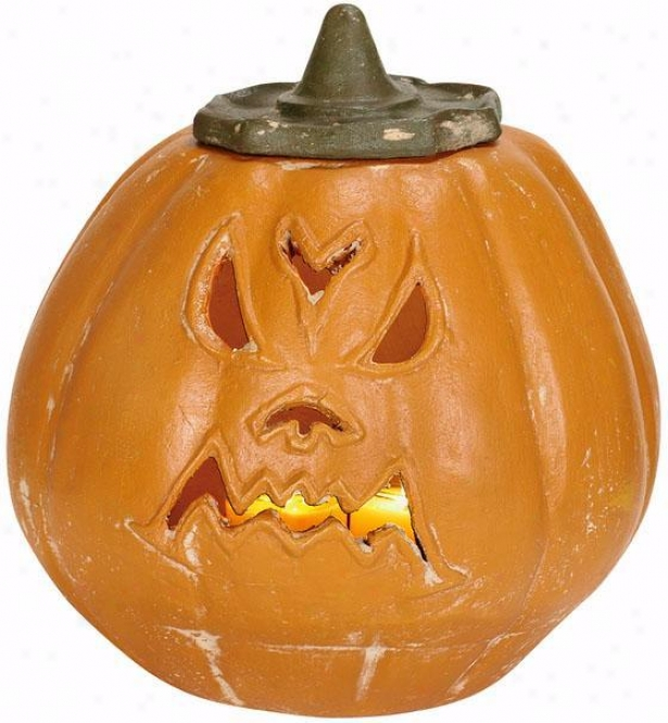 Angry Pumpkin Luminary - Angry, Orange