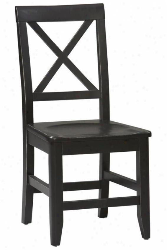 """anna Dining Chair - 36.65""""hx17.25""""w, Black"""