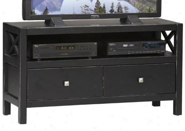 """anna Media Center - 24""""hx44""""q, Black"""