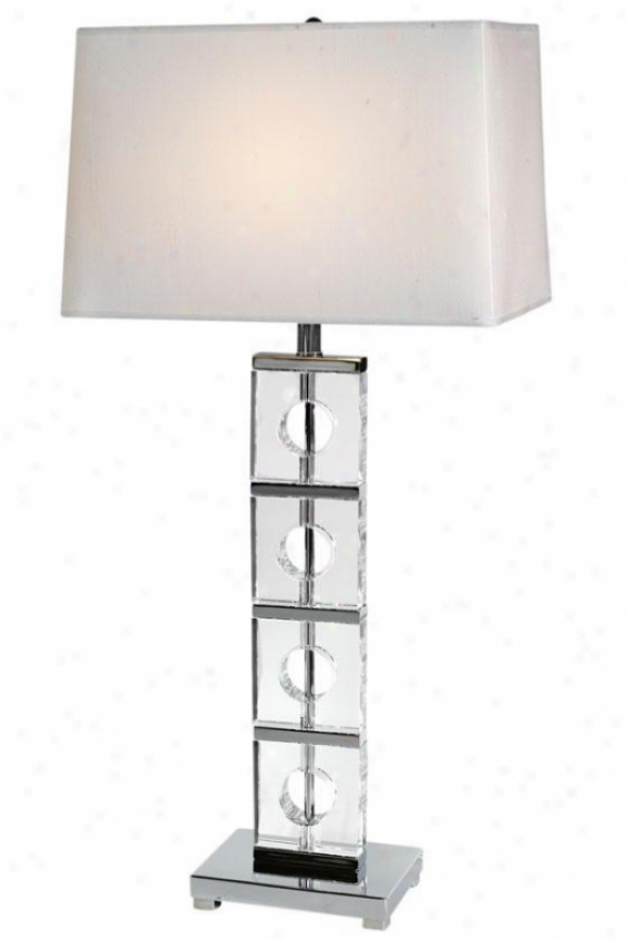 """anna Table Lamp - 32""""hx15""""w, Silver Chrome"""