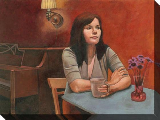 """anticipation Canvas Wall Art - 48""""hx36""""w, Red"""