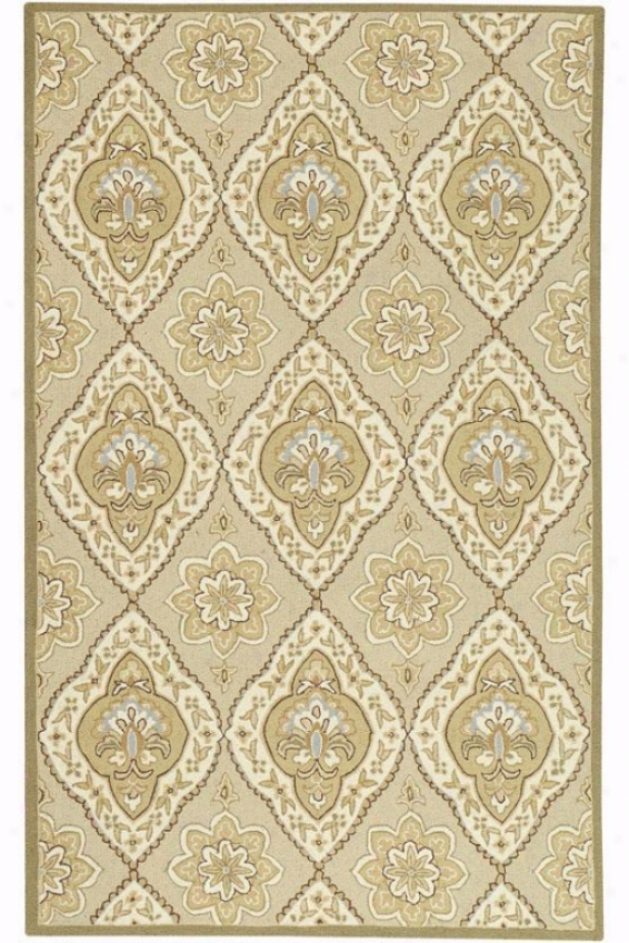 """antique Rug - 2'6""""x4', Beige"""