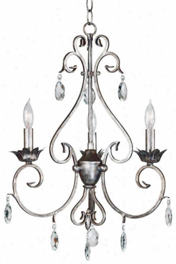 Antoinette 3-ligh Chandelier - 3light, Wbtrd Silver