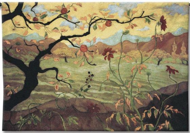 """apple Tree Wigh Red Fruit Tapestry - 38""""hx53""""w, Multi"""