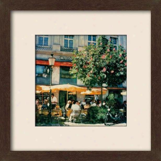 """apres Midi Framed Wall Art - 27""""hx27""""w, Matted Espresso"""