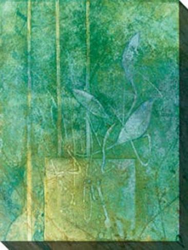 Aqueous Ii Canvas Wall Art - Ii, Verdant