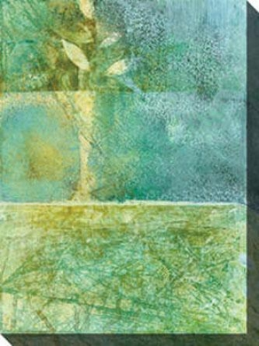 Watery Iii Canvas Walp Art - Iii, Green