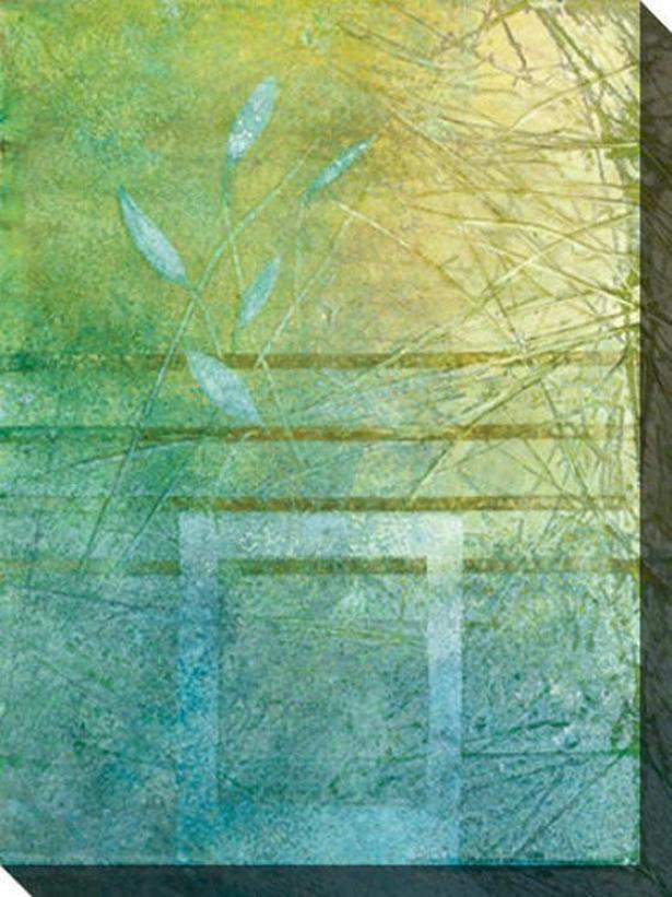 Aqueous Iv Canvas Wall Art - Iv, Green