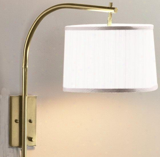 Arch Medium Swing-arm Pin-up Lamp - White, Copper Brass