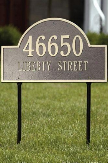 Arch Two-line Class Lawn Address Plaque - Estate/two Line, Beige