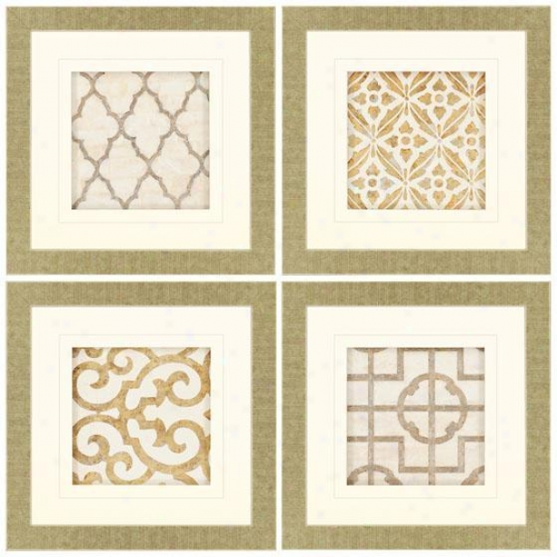 Archives Wall Art - Set Of 4 - Set Of 4, Beige