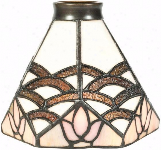 """arcs Fan Vanity Light Shade - 2.25"""" Neck, Arcs"""