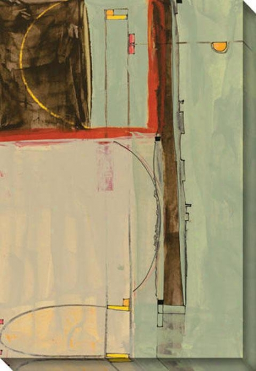 """ardor Canvas Wall Art - 34""""hx48""""w, Ivory"""