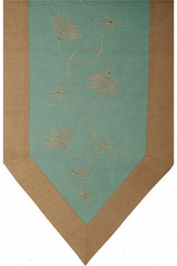 """aregage Table Runner - 72""""lx14""""w, Teal"""