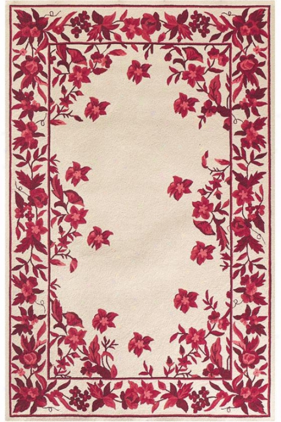 """argonne Design Area Rug - 7'6""""x9'6"""" Oval, Burgundy"""