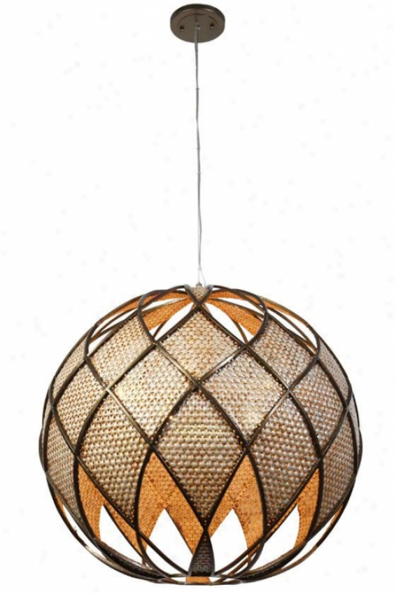 Argyle Pendant - 5+1 Light, New Brz/dspearl
