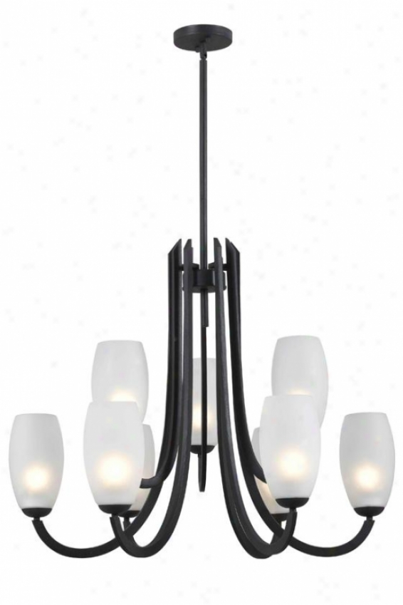 Arianne 9-light Chandelier - 9-light, Forged Graphite
