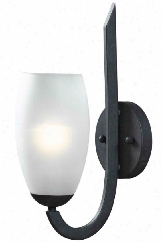 Arianne Sconce - 1-light, Forged Graphite
