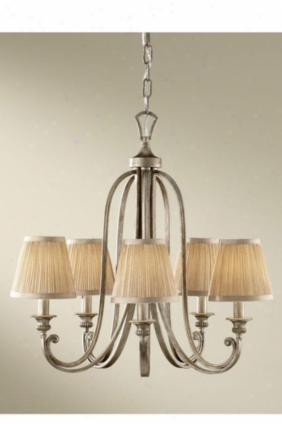 Aribella Chandelier - Five Light, Silver Sand