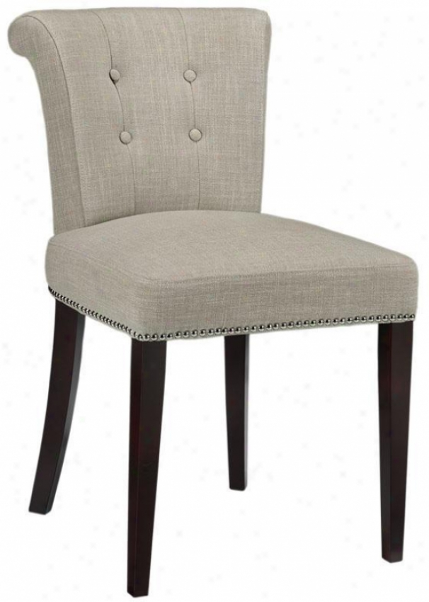 """arion Side Chair - Place Of 2 - 34"""" 2pk, Beige Linen"""