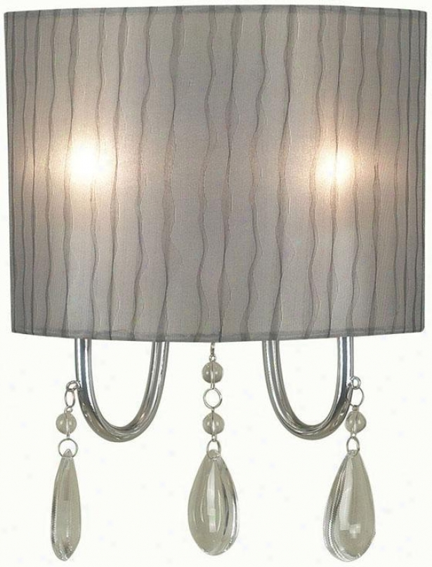 """arpeggio 2-light Wall Sconce - 13""""hx9""""w, Silver Chrome"""