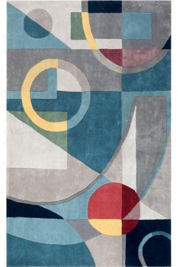 """Trade Deco Area Rug - 7'6""""x9'6"""", Blue"""