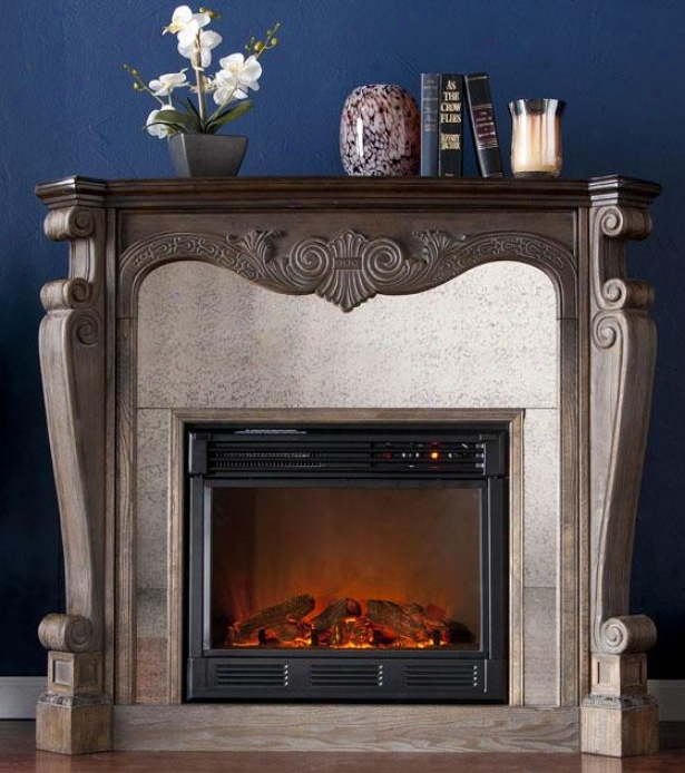 Arthur Fireplace - Electric Frplce, Burnt Oak/gray