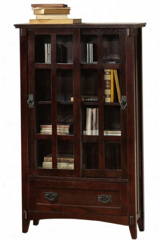 """artisan Cabinet - 52""""hx31""""w, Brown Oak"""