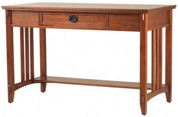 """artisan Computer/writing Desk - 48""""wx24""""dx30""""h, Brown"""
