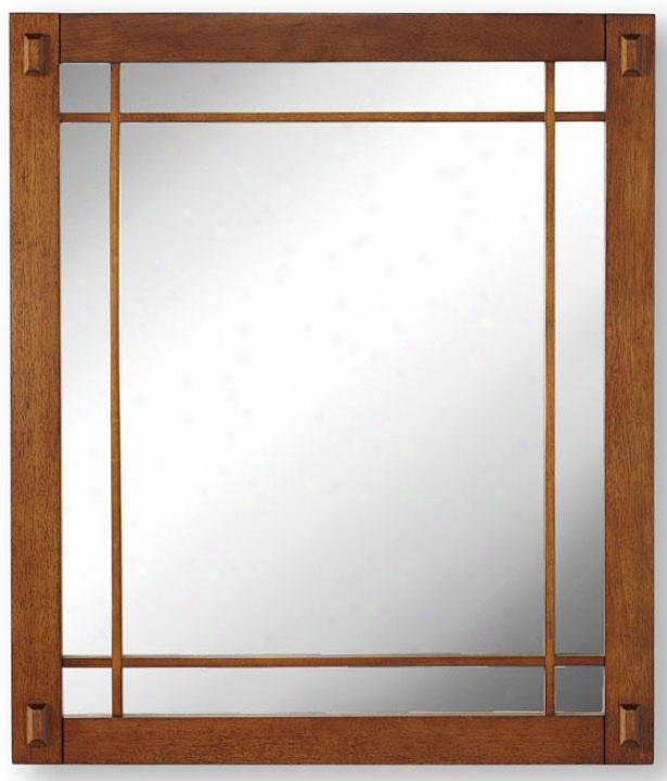 """artisan Mirror - 25.5""""x30"""", Brown"""