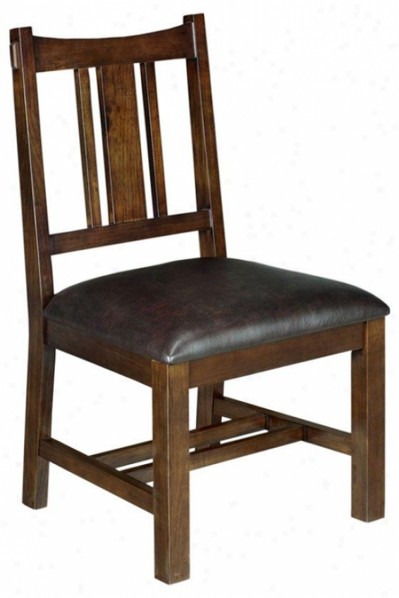 """artisan Side Chair - 38""""hx19""""w, Brown"""
