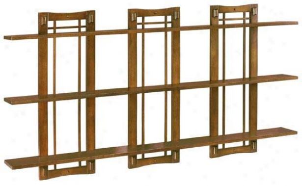 Artisan Triple Opwn-panel Wall Shelf - Triple 3-shelf, Brown