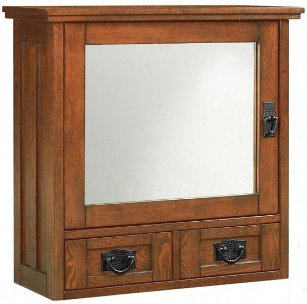 """artiswn Wall Cabinet With Glass Doors - 22.75""""hx23.5""""w, Brown"""