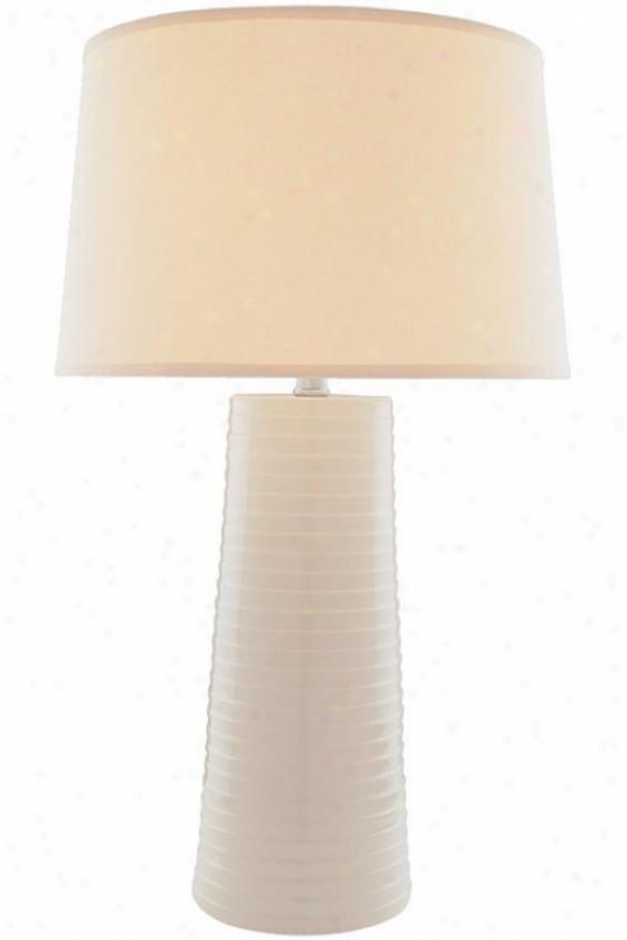 """ashanti Table Lamp - 27""""hx16""""d, Ivory"""
