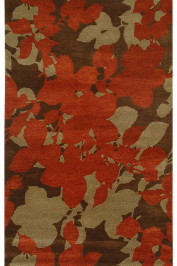 Aqhland Area Rug Ii - 2'x3', Chocolate Brown