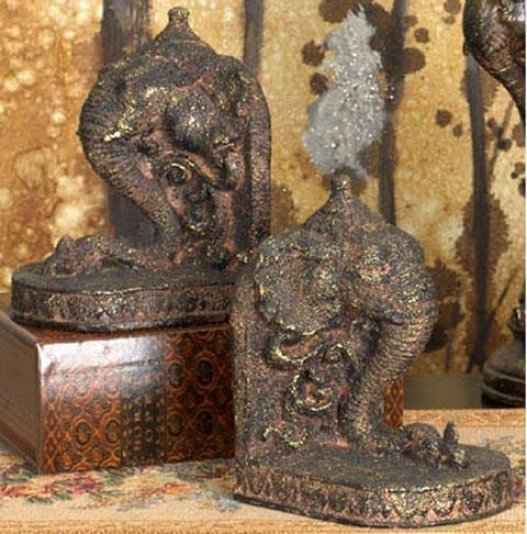 Asian-inspired Bookends - Set Of 2 - Set Of 2, Multi