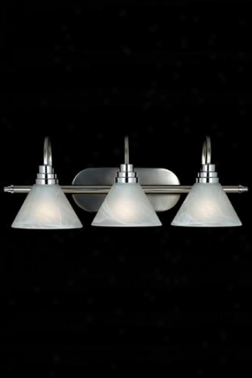 Astoria 3-light Bath Lighting - Three-light, Silver