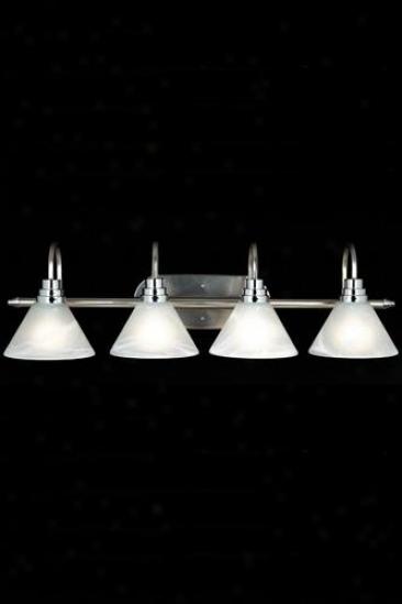 Astoria 4-light Bath Lighting - Four-light, Silver