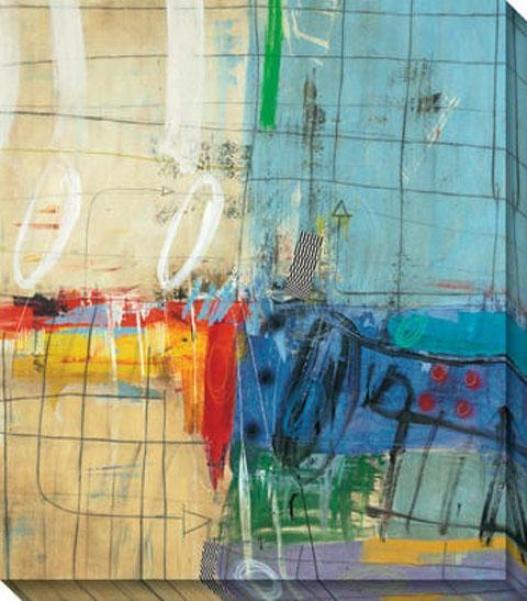 Atypical Amusement I Canvas Wall Art - I, Blue