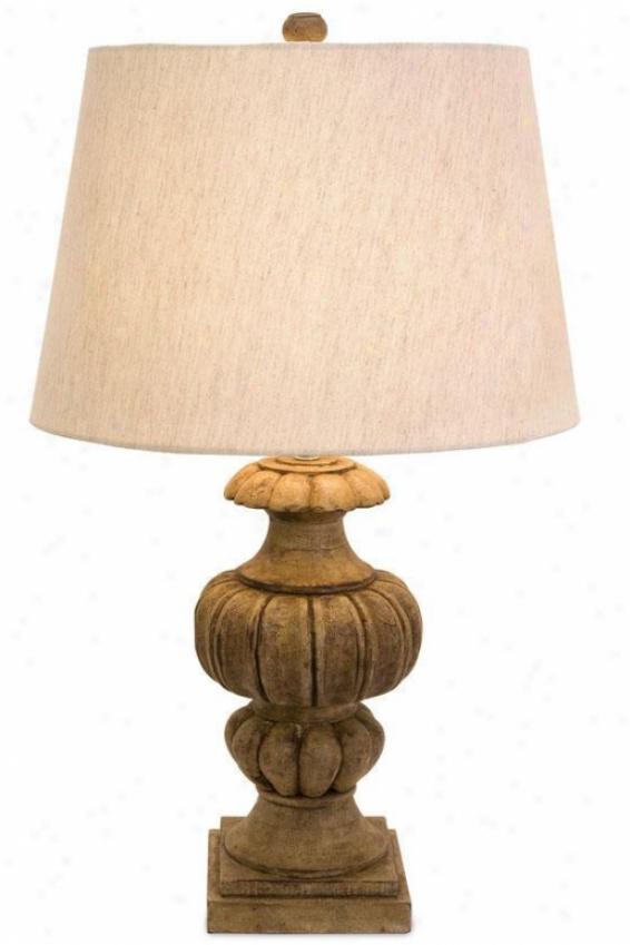 """audrey Table Lamp - 21""""hx7.5""""d, Brown"""