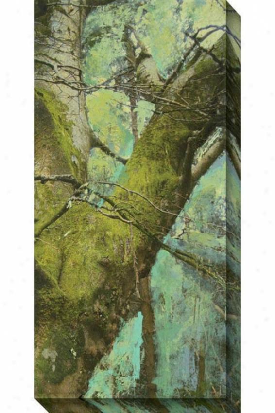 Auspicious Ii Canvas Wall Skill - Ii, Green