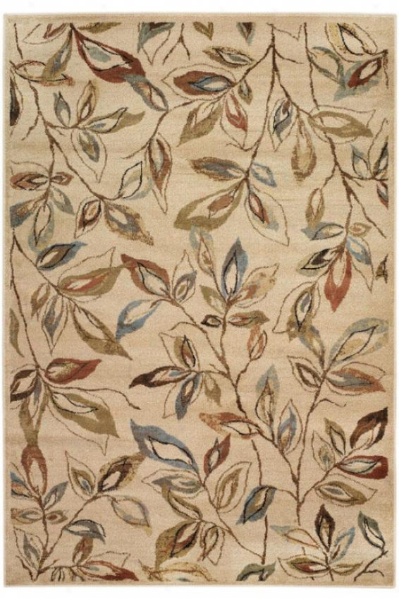 """Fall Area Rug Ii - 6'7""""x9'6"""", Brown"""