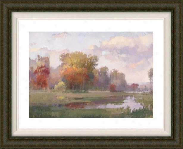 """autumn Cove Framed Wall Aet - 32""""hx40""""w, Fltd Burlwood"""