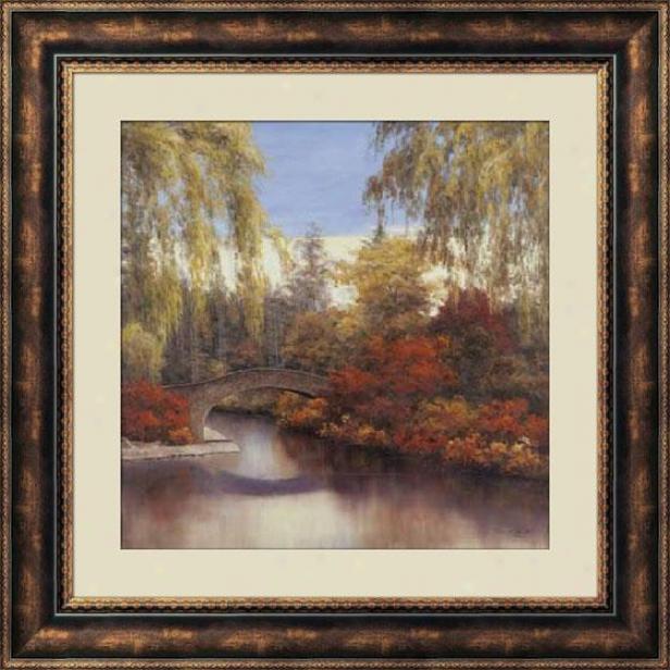 """autumn Crossing Farmed Wall Art - 36""""hx36""""w, Brown"""