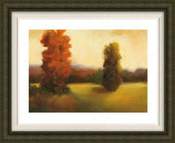 Autumn Dusk Ii Framed Wall Art - Ii, Fltd Burlwood