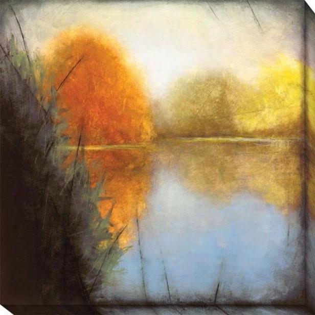 Autumn Marsh I Canvas Wall Art - I,-Blue