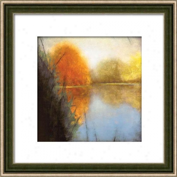 Autumn Fen I Framed Wall Creation of beauty - I, Matted Silver