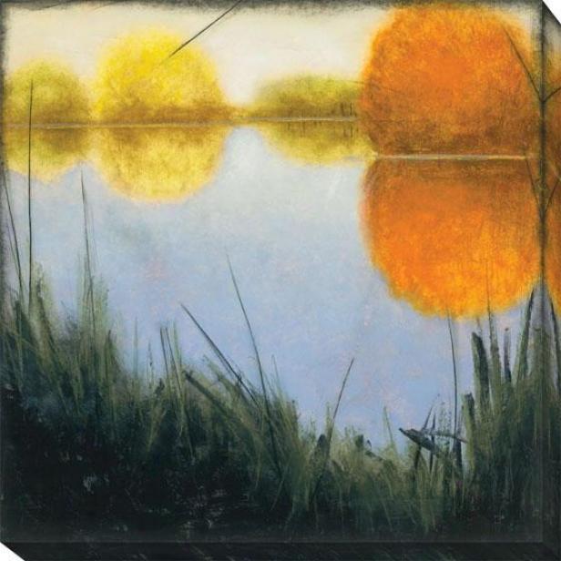 Autumn Marsh Ii Canvas Wall Skill  -Ii, Blue