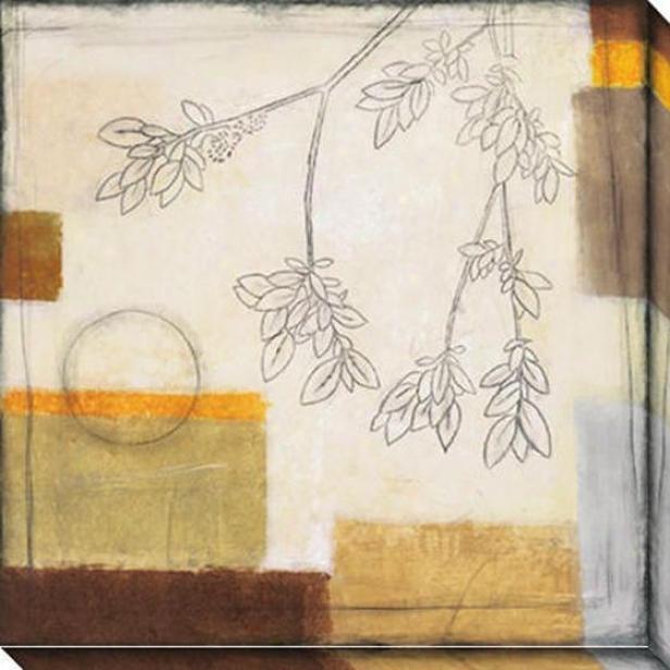 Autumn Moon Ii Oversizsd Canvas Wall Art - Ii, White